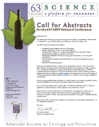 Image of 63rd ASEV National Conference Call for Abstracts
