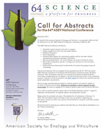 Image of 64th ASEV National Conference Call for Abstracts