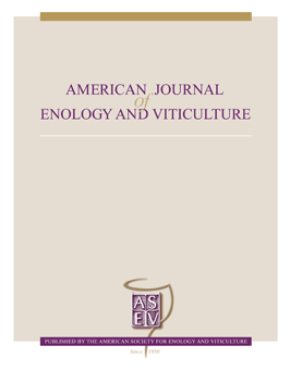 Image of The American Journal of Enology and Viticulture